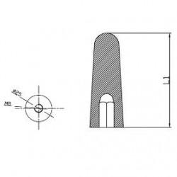 Facchino singolo per scuotitore a cinghie