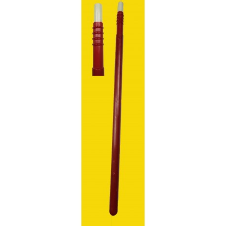 Asta in fibra 11-450 PU di colore rosso per raggi vibranti ricoperti in poliuretano