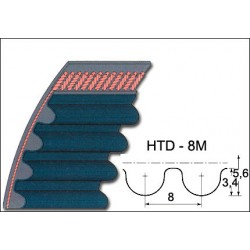 cinghia rotazione shaker HTD l.1200mm
